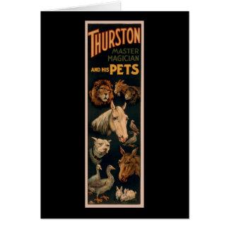 Carte Magicien principal de Thurston et ses animaux
