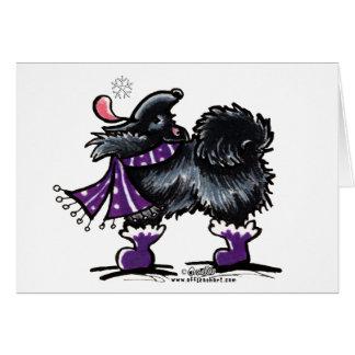 Carte Magie noire d'hiver de Pomeranian