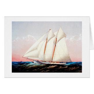Carte Magie, yacht de schooner