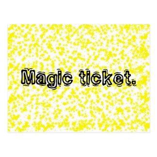 Carte magique de billet