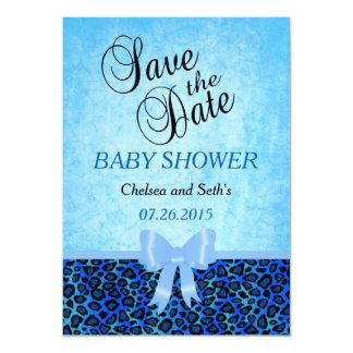 Carte Magnétique Douche animale de bébé du bleu   du motif   de