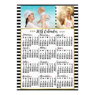 Carte Magnétique Le calendrier mensuel de 2018 ans barre des photos