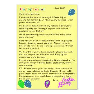 Carte Magnétique Lettre des oeufs pourpres de vert bleu de lapin de