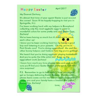 Carte Magnétique Lettre d'oeuf bleu de poussin de jaune de lapin de