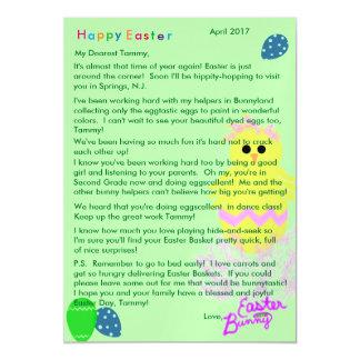 Carte Magnétique Lettre d'oeuf de poussin de rose de jaune de lapin