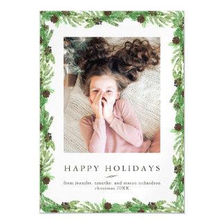 Carte Magnétique Photo de Noël du pin | de vacances