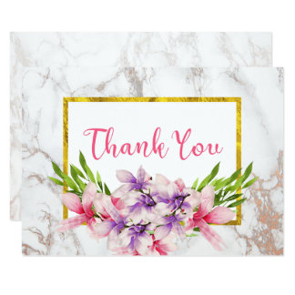 Carte Magnolias d'aquarelle, Merci de marbre de Faux