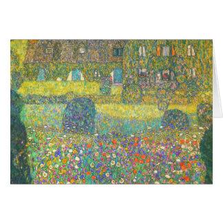Carte Maison de campagne de Gustav Klimt par l'Attersee