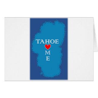 Carte Maison du lac Tahoe