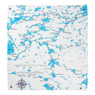 Carte Malberg LK de BWCA Foulard