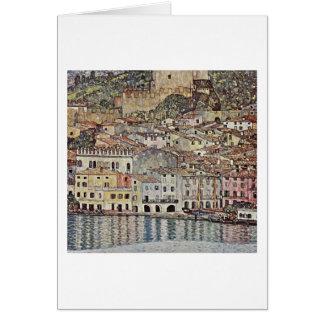 Carte Malcesine sur le policier de lac par Gustav Klimt