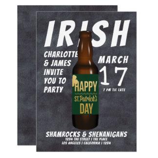 Carte Malice d'Irlandais de partie de bière de Jour de