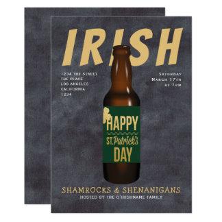 Carte Malice irlandaise de partie de bière de Jour de la