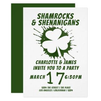 Carte Malice irlandaise de shamrocks de partie de Jour