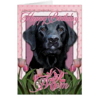 Carte Maman de joyeux anniversaire - Labrador - noir -