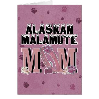 Carte MAMAN de Malamute d'Alaska