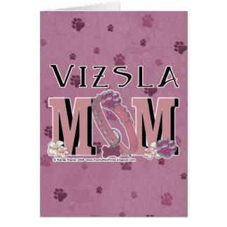 Carte MAMAN de Vizsla