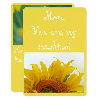 Carte Maman, vous êtes mon soleil !