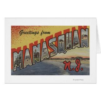 Carte Manasquan, New Jersey - grandes scènes 2 de lettre