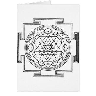 Carte Mandala de Sri Yantra