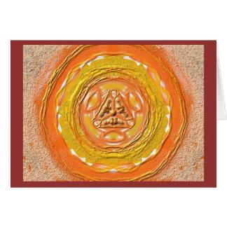 Carte Mandala-Grußkarte 03 oranges