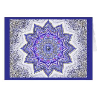 Carte Mandala-Grußkarte 09 DANS bleus