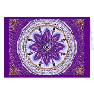 Carte Mandala-Grußkarte 10 DANS bleus