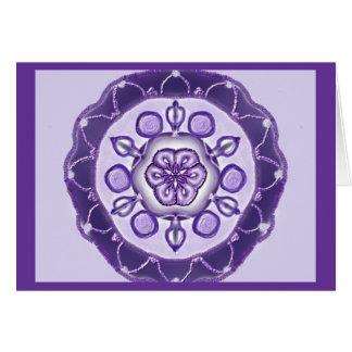 Carte Mandala-Grußkarte 10 TM bleu