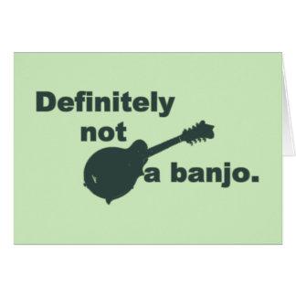 Carte Mandoline -- Certainement pas un banjo