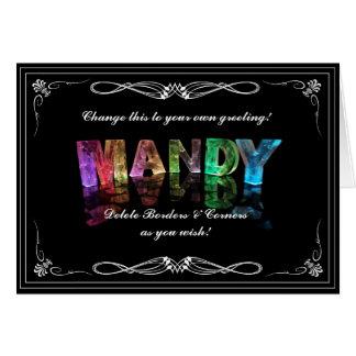 Carte Mandy nommée dans 3D s'allume (la photographie)