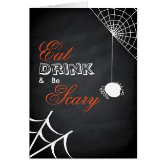 Carte Mangez la boisson et soyez toile d'araignée