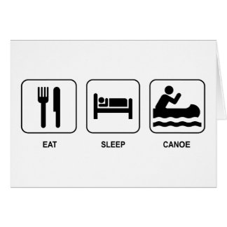 Carte Mangez le canoë de sommeil