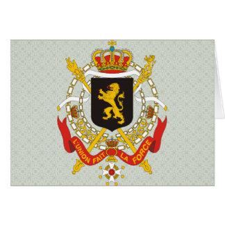 Carte Manteau de la Belgique de détail de bras