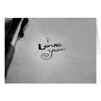 Carte Manuscrit je t'aime