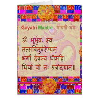 Carte Manuscrit Sanskrit d'OmMantra GayatriMantra par