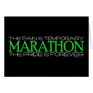Carte Marathon - la fierté est Forever