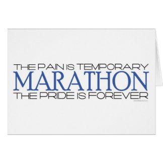 Carte Marathon - la fierté est pour toujours -