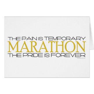 Carte Marathon - la fierté est pour toujours - bonne