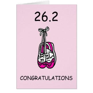 Carte Marathonien de Madame, 26,2 félicitations
