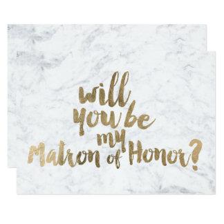 Carte Marbre d'or de Faux vous serez ma dame de honneur