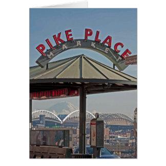 Carte Marché de place de Pike à Seattle, WA
