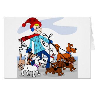 Carte Marcheur de chien