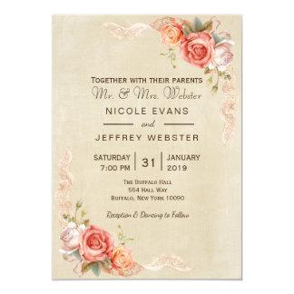 Carte Mariage campagnard chic minable de belle fleur de