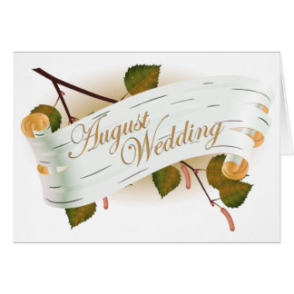 Carte Mariage d'août : feuille de la saison :