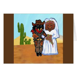 Carte Mariage de cowboy de Doxie