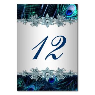 Carte Mariage de paon de bleu royal
