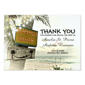 Carte Mariage de plage de destination de Merci