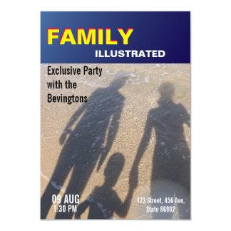 Carte Mariage de plage de partie de famille de