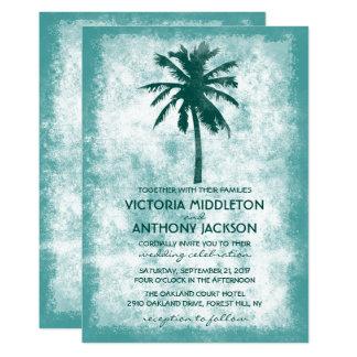 Carte Mariage de plage tropical de palmier