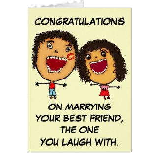 Carte Mariage de vos félicitations de meilleur ami